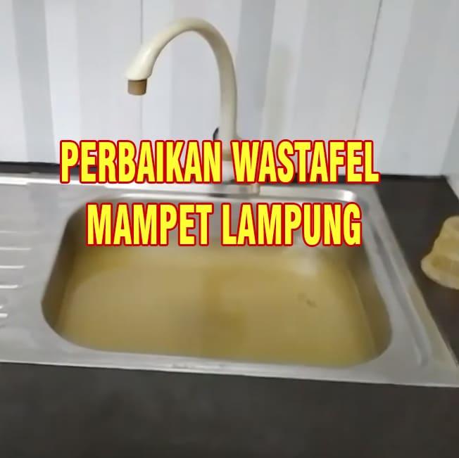 perbaikan wastafel mampet lampung